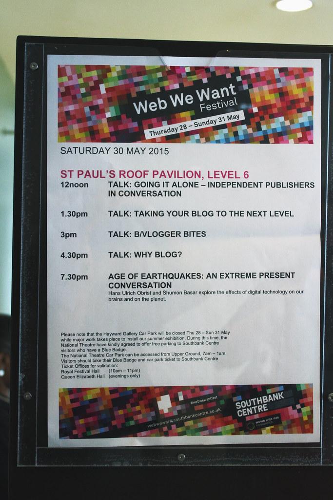 Web We Want schedule