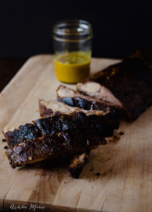 delicious mustard glazed pork ribs
