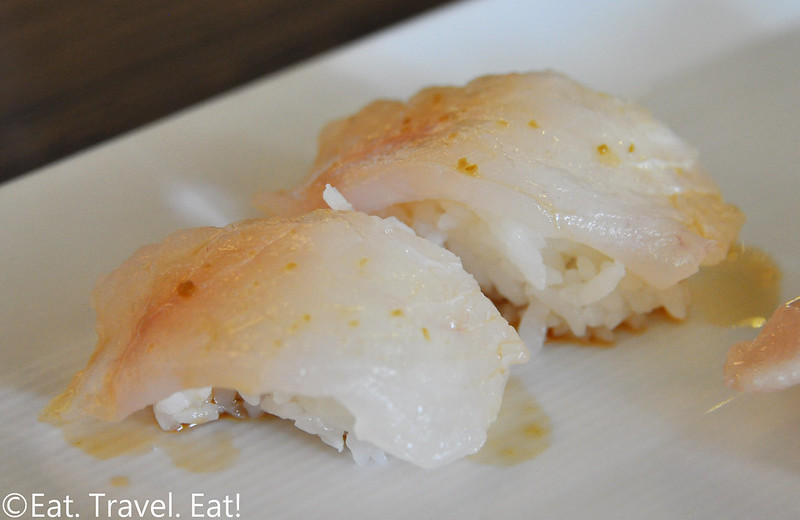 Sugarfish by Sushi Nozawa (Waterside)- Marina Del Rey, CA: Halibut Nigiri
