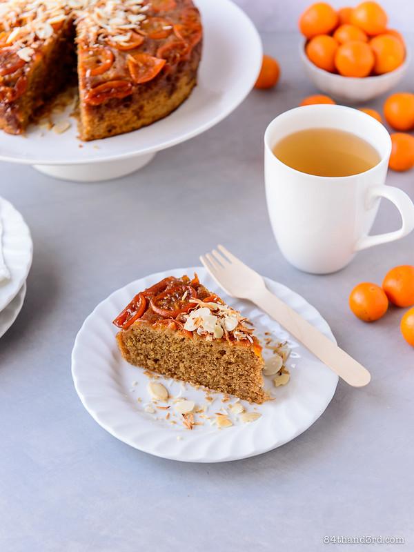 Upside-down Kumquat Tea Cake