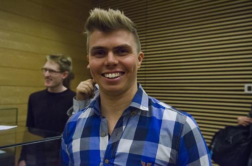 T.M. Osvald Josefsen (27) er stolt over å vera kven, men skulle gjerne sett at fleire snakka språket.