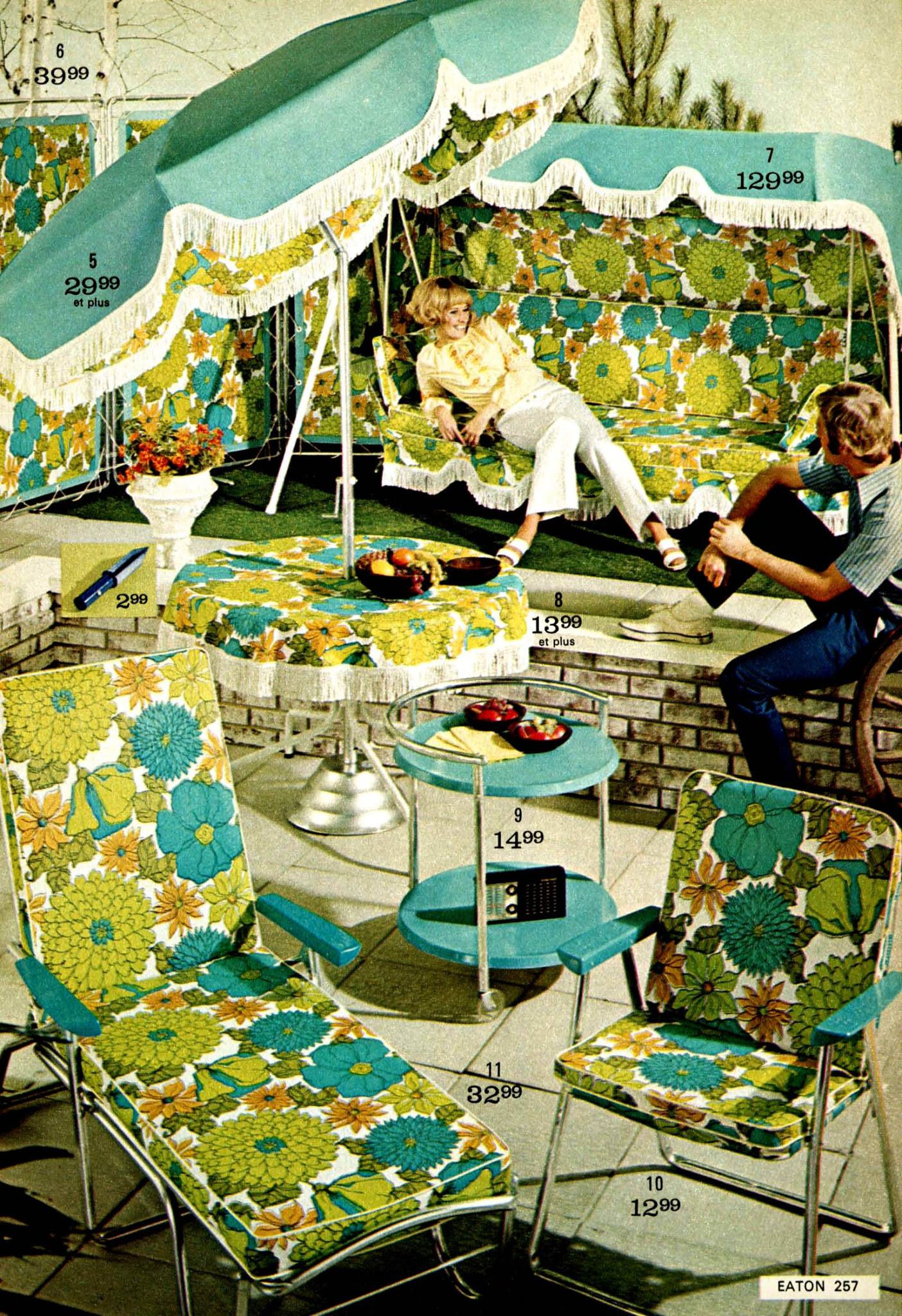 Flower Power Patio Set