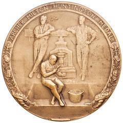 Huntington Award medal obverse