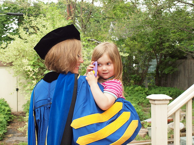 Me and my girl, on commencement day.