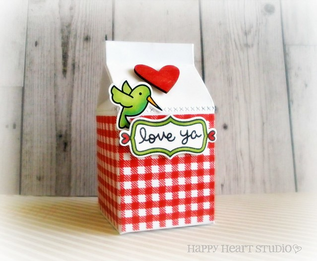 gingham milk carton 1