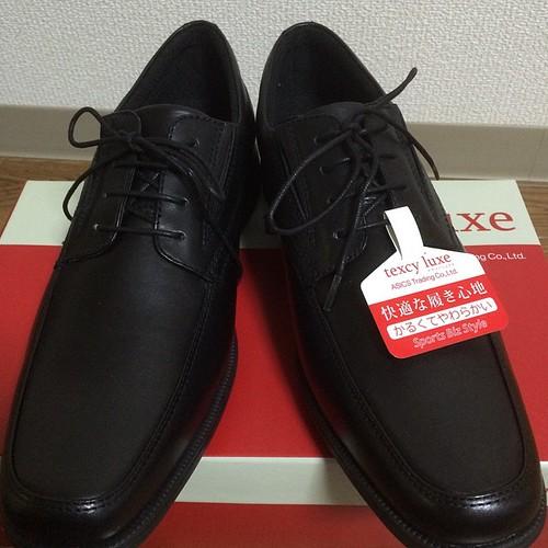 スーツ時に履く靴を買いました。安いし軽くてよい。texcy luxe TU-7769(ブラック) 6,480円