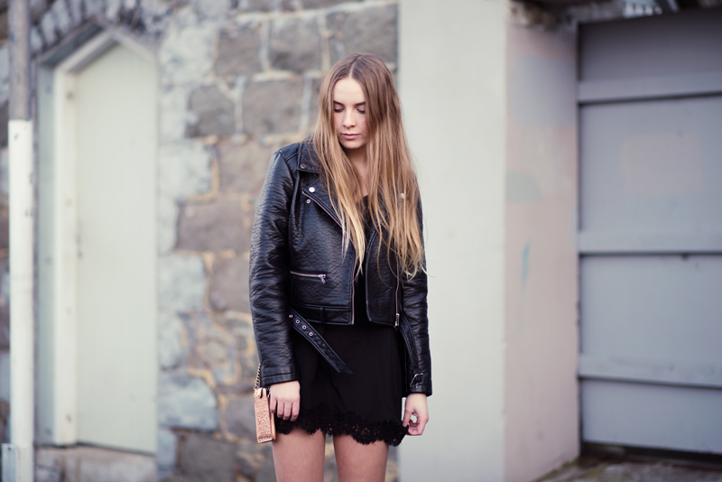 Glassons Leather Jacket, Nasty Gal Dress, Glassons Boots, Karen Walker Supreme Neckpurse | Kendra Alexandra | Stolen Inspiration | New Zealand Fashion Blogger