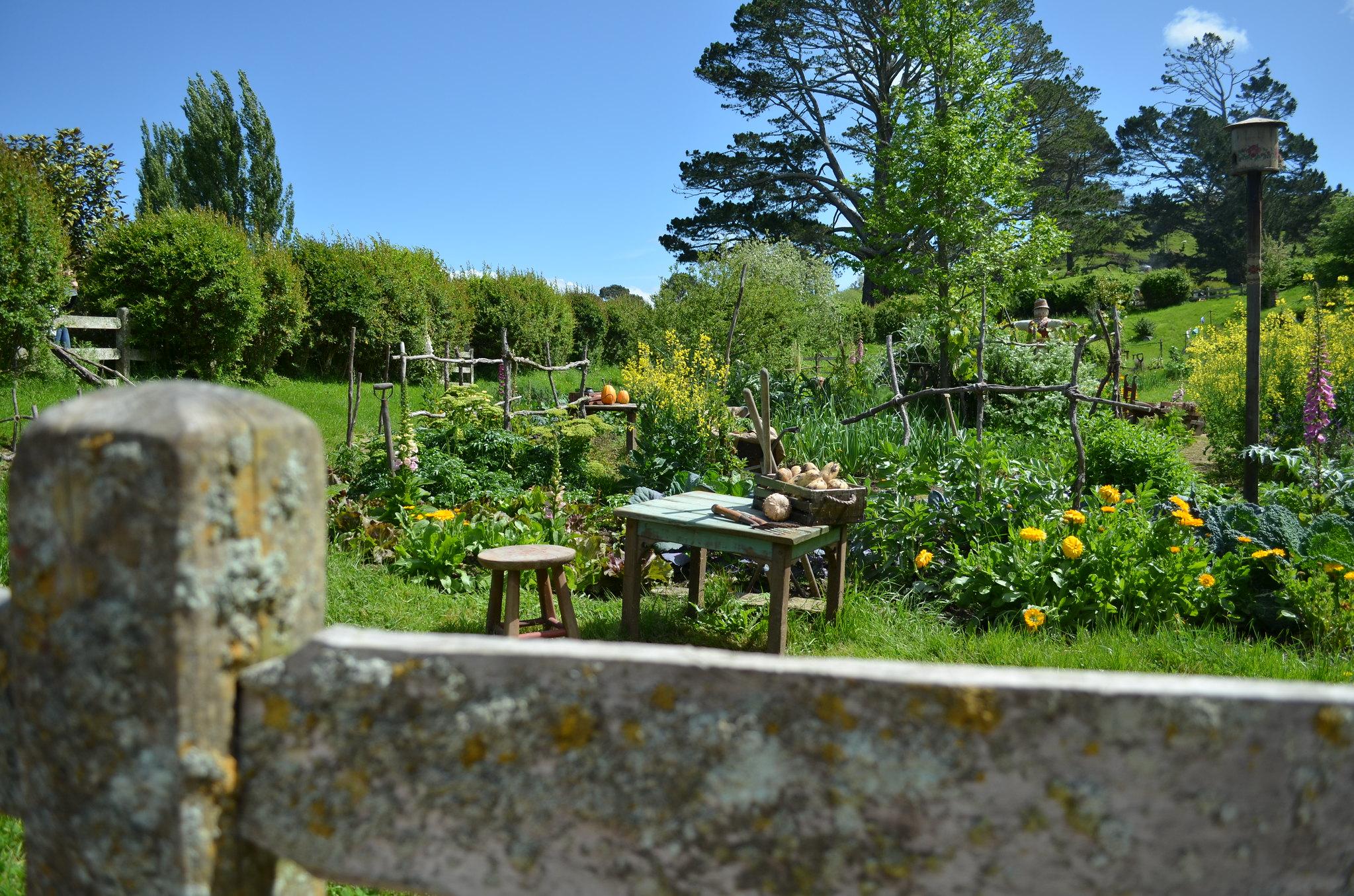 Hobbiton - communal garden