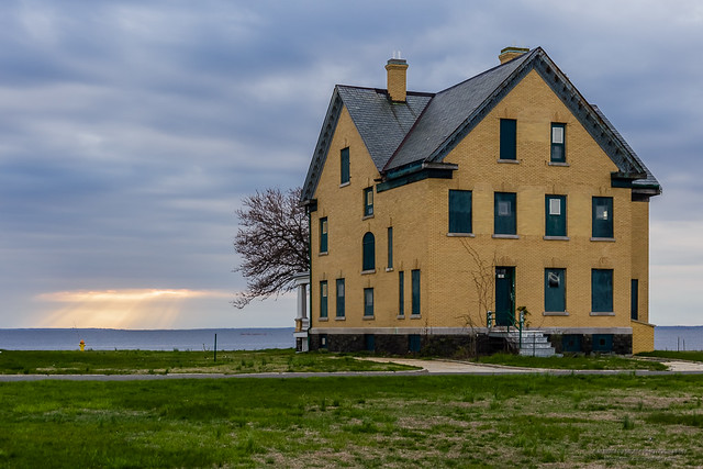 Officers quarters in the evening