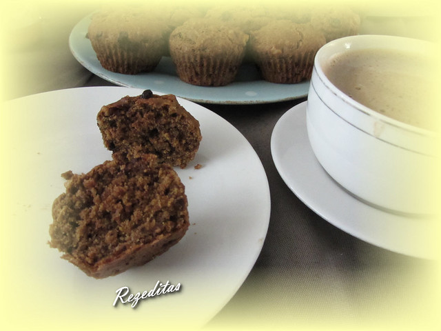 MUFFINS DE TEFF, CHOCOLATE Y NUECES