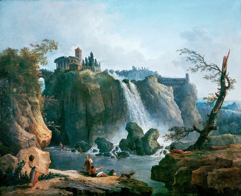 Hubert Robert - The Waterfall at Tivoli