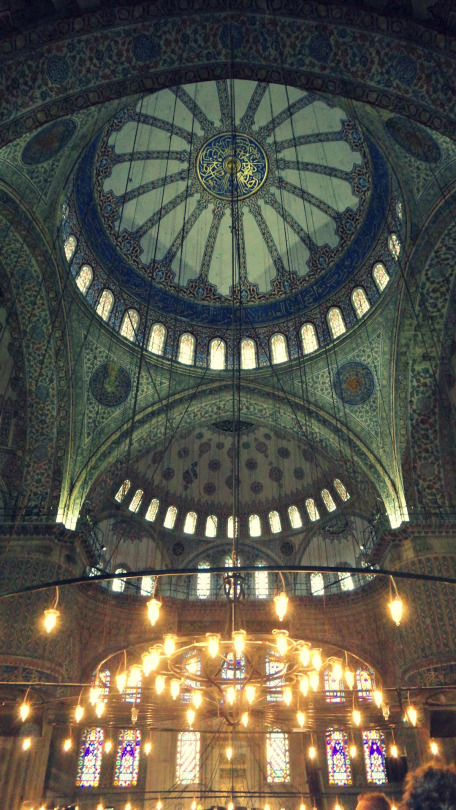 The decoration of Blue Mosque.