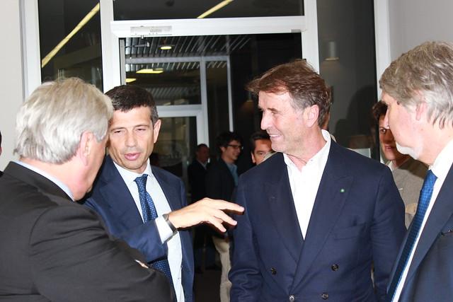 Maurizio Lupi, Brunello Cucinelli e Giuliano Poletti