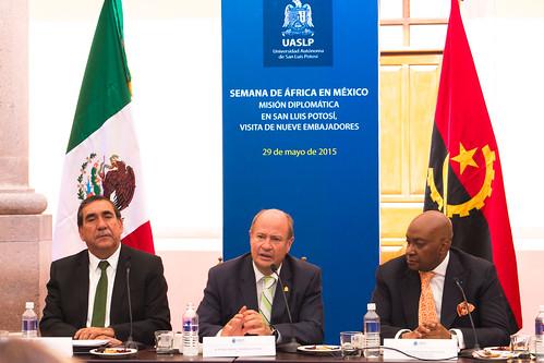 Embajadores africanos visitan la UASLP y expresan interés de vinculación