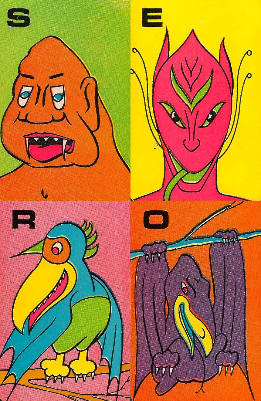 Monster Flip Cards - 4