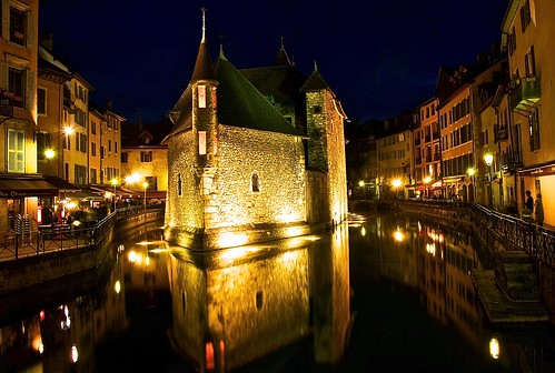 Old prison among annecy canals
