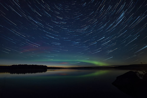 Star trail borealis