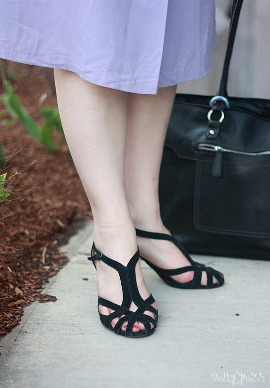 Modern shoes to match a vintage dress