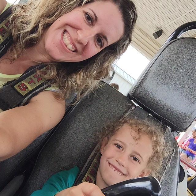 Autumn LOVES the go-karts! 🚗🚕🚙🚗🚕🚙 I love when her hair gets all fluffy curly like this!! And I love when she tells me I am her BFF! 👩‍❤️‍💋‍👩👏👏👏👩👧