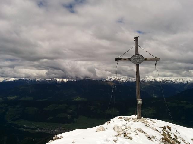 Gipfelkreuz Sarlkofel, Hochpustertal