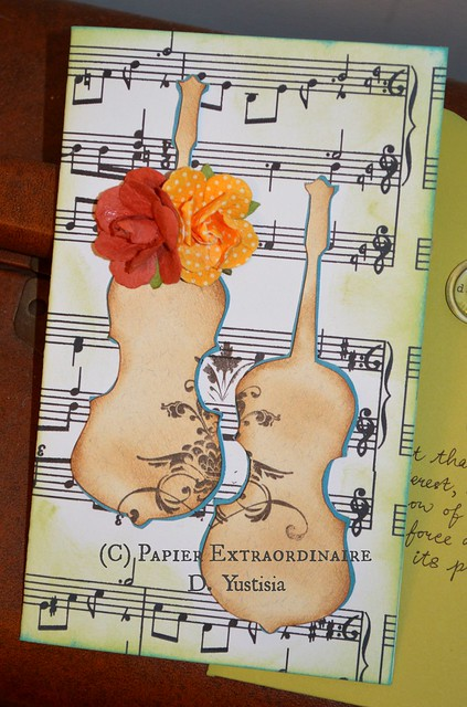 Congrats Card with Two Violins