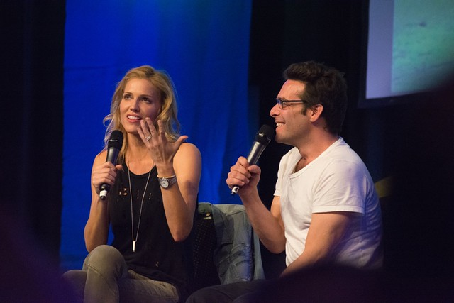 Tricia Helfer + James Callis