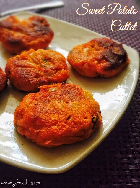 Sweet Potato Cutlet Recipe for Toddlers and Kids