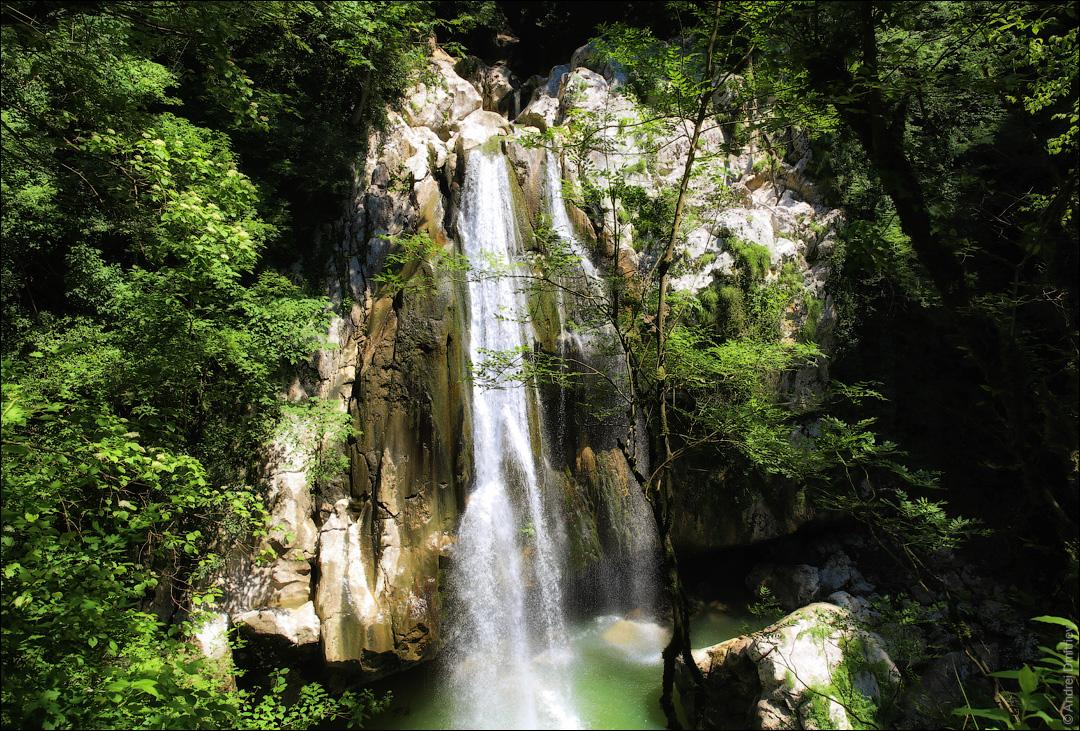 Верхний агурский водопад