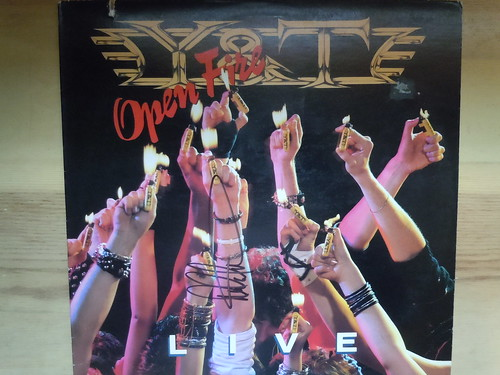 """Y&T """"Open Fire"""" (1985) - Autographed by Dave Meniketti"""