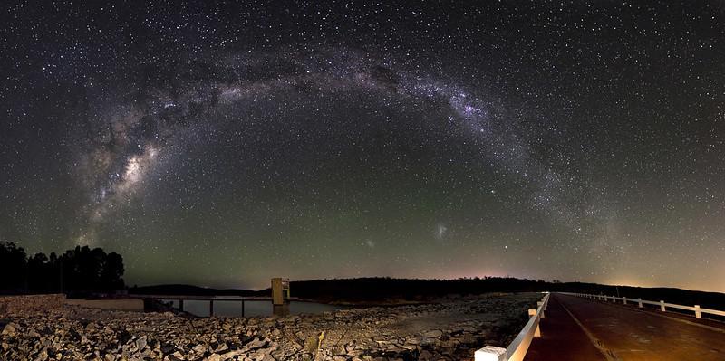 Milky Way Panorama - Serpentine Dam, Western Australia