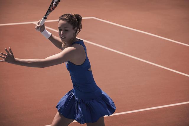 Alize Cornet Roland Garros outfit