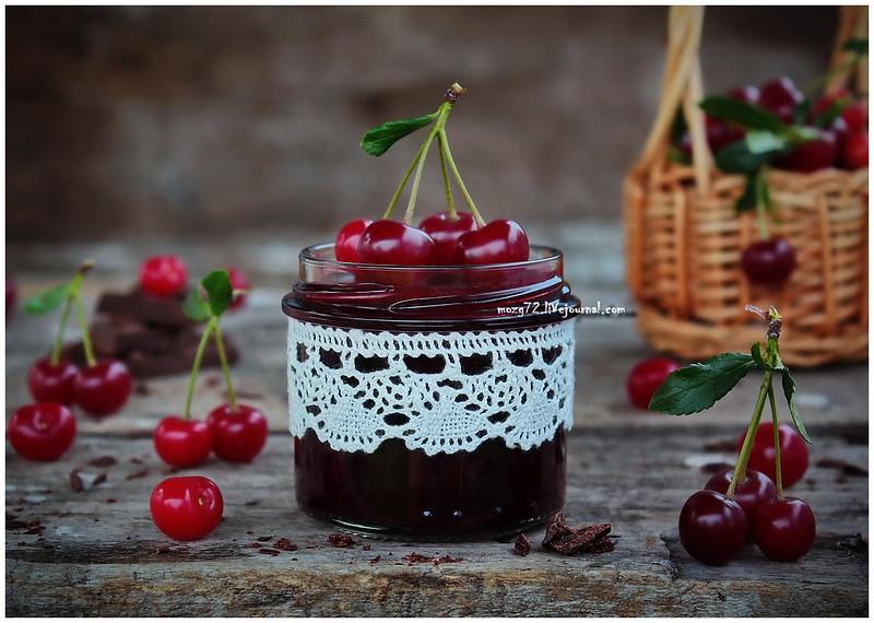 ...cherry jam with dark chocolate