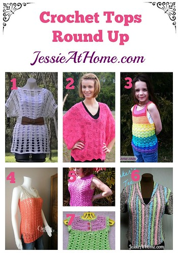 Crochet Tops Round Up from Jessie At Home