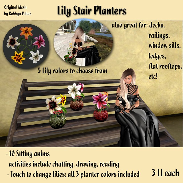 Lily Stair Planters - Original Mesh