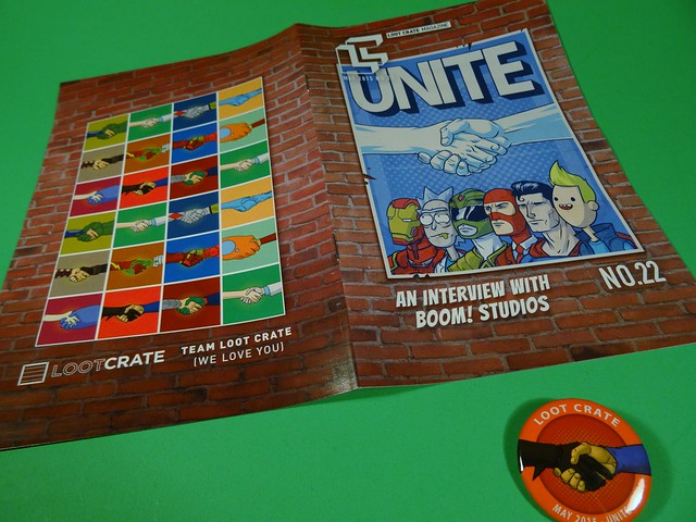 May 2015 Loot Crate Book & Button