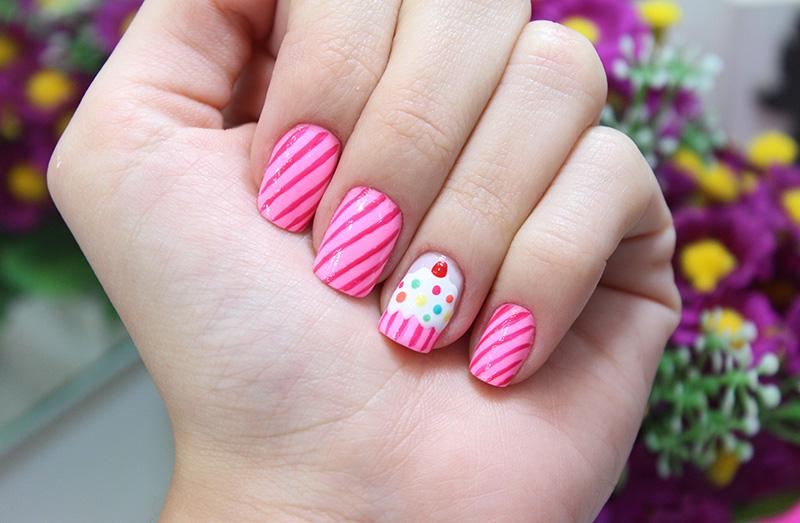 1- unhas cupcake - cupcake nails jana taffarel blog sempre glamour