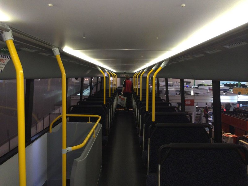 Melbourne double decker bus - upstairs