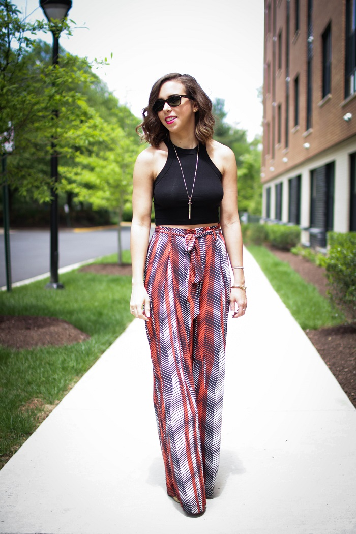aviza style. a viza style. andrea viza. fashion blogger. dc blogger. spring style. zara. flowy pants. crop top. urban outfitters. wide leg pants. festival wear. 6