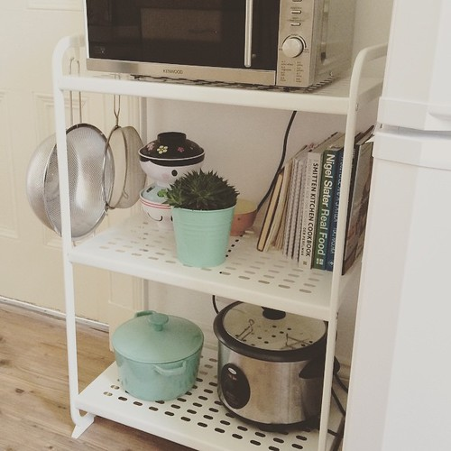 Very happy with my IKEA purchases - I've freed up some counter and cupboard space and have room to display more cute things.