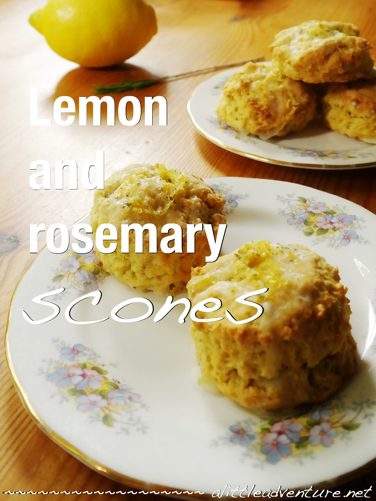 Lemon and rosemary scones @ alittleadventure.net