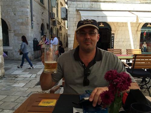 Cheers! Croatian beer for the hubster