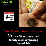 Bloom Mobile Tobacco Is Never A Reason To Boast Upon. No One Likes To See Their Family Member Paying For Suicide..25-05-2015