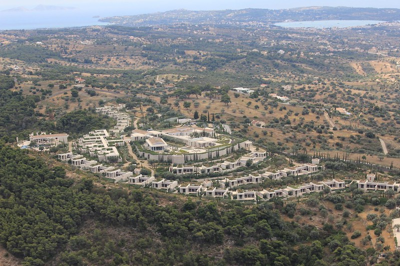 Helicopter view of Amanzoe