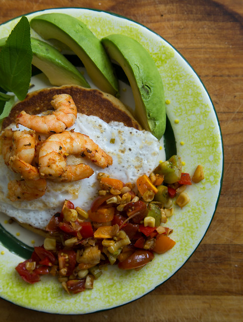 shrimp+eggs=brunch