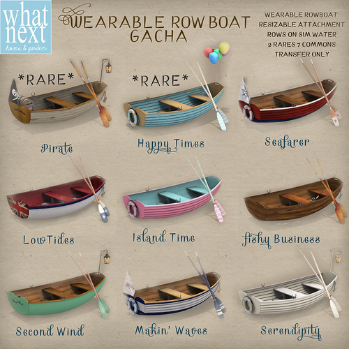 {what next} Wearable Row Boat Gacha Key