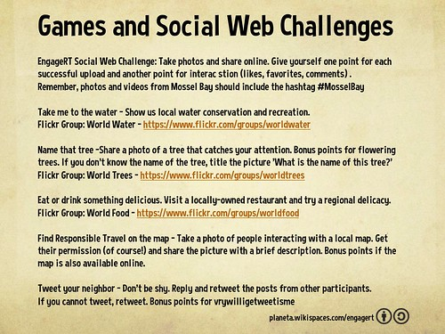 Engaging Responsible Travel: Games and Social Web Challenges. Bonus points for vrywilligetweetisme
