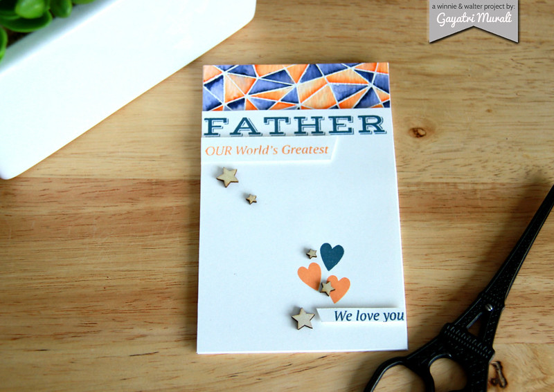 Father's day card flat
