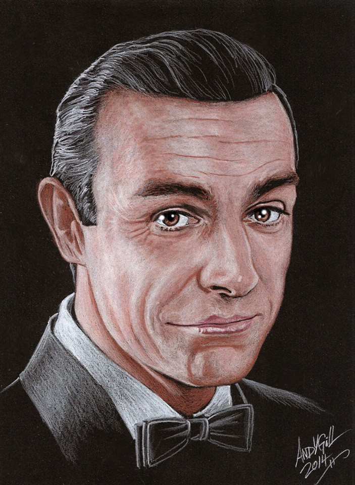 Sean Connery as James Bond by Andy Gill
