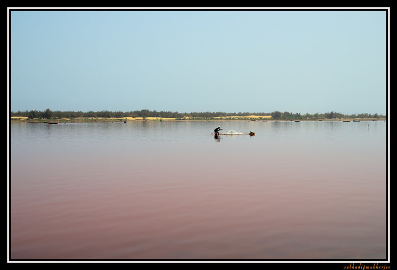 Salt collection - Lac Rose - Pink Lake