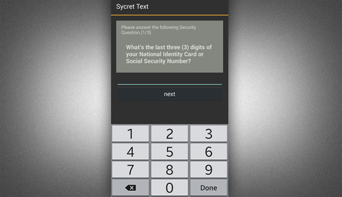 How to install Sycret Text App step 6